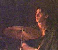 Stephen on drums